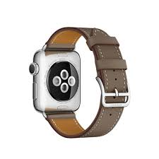 apple watch hermes leather single tour display gallery item 5