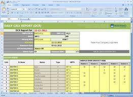 Daily Report Format In Excel Free Download Dcr Format For Pharma Daily Mr Reporting Activity
