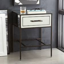 mirrored bedside furniture. Mirrored Bedside Tables Drawers Mirrored Bedside Furniture B