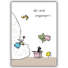 Umzug Büro Sprüche Lustige Zusage Karte Mit Frosch Und Ameisen Ob