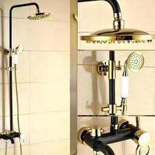 dual shower head system bronze dual shower head bathtub faucet shower oil rubbed bronze dual shower