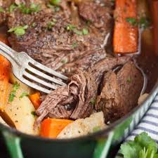 pot roast with carrots and