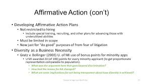 Affirmative Action Plan Chapter 24 What's Legal And What's Not Title VII Uniform Guidelines 24