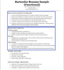 Tips For Resume Format Bartender Resume Sample Writing Tips Resume Companion