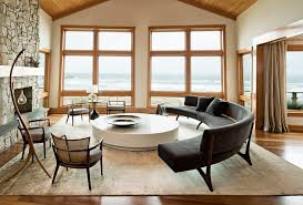 eames round coffee living room contemporary with round sofa person sofas