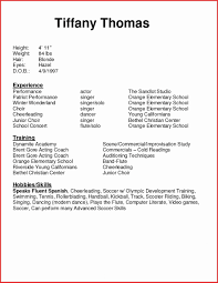 Beginners Resume Acting Resumes For Beginners Resume Template Modeling Sample Awesome