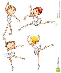 простые эскизы балета танцев девушки иллюстрация вектора