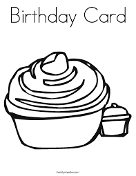 Small Picture Birthday Card Coloring Page Twisty Noodle