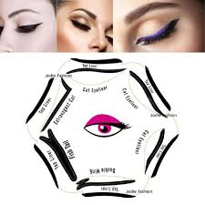 details about eyeliner stencil 6in1 eyeshadow guide smokey cat quick eye makeup tool set