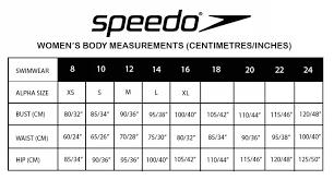 Speedo Two Piece Size Chart 36 Abundant Speedo Endurance Size Chart