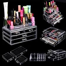 cosmetic anizer drawers clear acrylic jewellery box makeup