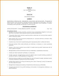 Sample Resume For Hospital Administrative Assistant New Sample Emt