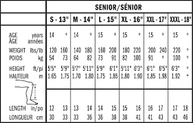Bauer Vapor Size Chart Hockey Glove Sizing Chart Bauer Images Gloves And