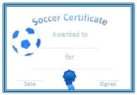 Template Football Certificates Templates Free Download Certificate