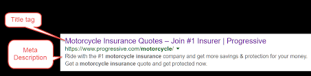 progressive motorcycle insurance quote magnificent meta tags for seo title meta description keywords tags