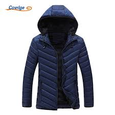 <b>Covrlge</b> 2017 New <b>Men</b> Padded Coat Parka Solid <b>Striped</b> Winter ...