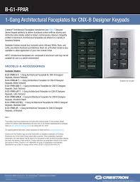 Designer Faceplates B G1 Fpar 1 Gang Architectural Faceplates For Cnx B Designer