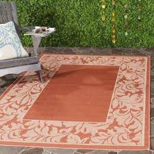 courtyard terracotta natural 4 ft x 6 ft indoor outdoor area rug