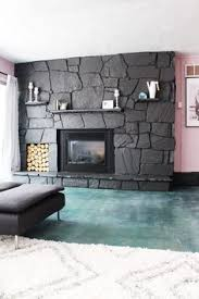 How to: Painting the stone fireplace white | Stone fireplaces ...