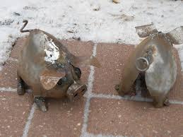 original hand crafted recycled s metal little pig garden sculpture