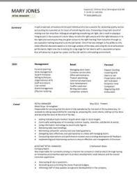 Resume Retail Objective  cover letter retail sales resume