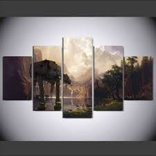 star wars canvas the last jedi poster painting 5 panel piece room decor wall art on star wars canvas panel wall art with dark star wars 5 panel wall art canvas panelwallart star