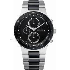 "men s bering ceramic chronograph watch 33341 742 watch shop comâ""¢ mens bering ceramic chronograph watch 33341 742"