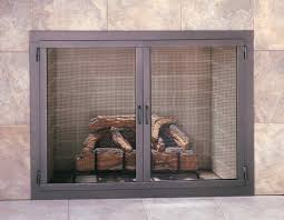 glass fireplace doors for