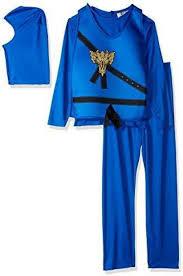 Charades Costume Size Chart Charades Childs Ninja Avenger Costume Blue Medium