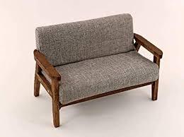 Simple wooden sofa chair Cheap Image Unavailable Youtubereklamclub Amazoncom 112 Dollhouse Miniature Furniture Wood Handmade Double