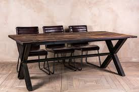 dining table frame steel. reclaimed elm dining table frame steel r