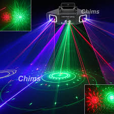 Blue Stage Lighting Us 116 98 10 Off Chims Dmx 4 Lens Rgb Red Green Blue Beam Pattern Network Laser Light Home Pro Dj Show Ktv Scanner Club Stage Lighting A X4 In Stage