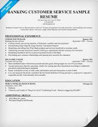 Bank Customer Service Resume Sample.