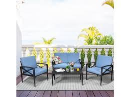 costway 4pcs patio furniture set