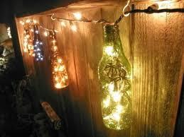 glass bottle ideas fairy lights
