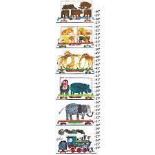 Thomas The Train Growth Chart Animals And Steam Train Canvas Growth Chart