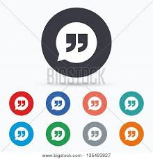 Quote Sign Interesting Quote Sign Icon Vector Photo Free Trial Bigstock