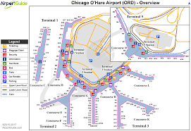 chicago  chicago o'hare international (ord) airport terminal maps