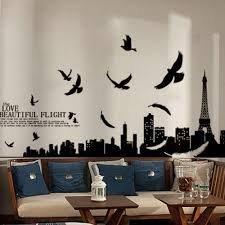 Paris Living Room Decor Aliexpresscom Buy Diy Wall Stickers Paris Eiffel Tower Wall