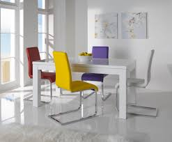 colorful modern dining room. Outstanding Furniture For Dining Room Decoration Using Extendable Tables : Astonishing Colorful Modern Table M