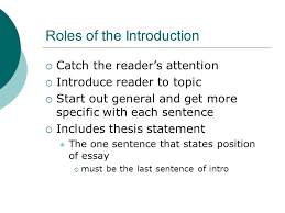 writing the essay introductions roles of the introduction writing the essay introductions 2 roles