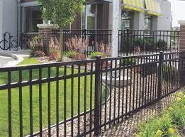 aluminum fence landscaping