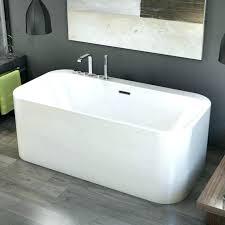 54 x 30 bathtub inch bathtubs idea minimalist modern rectangular freestanding tub gray with center drain