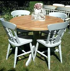 round pine dining table top shabby chic round dining table and chairs home pine dining table