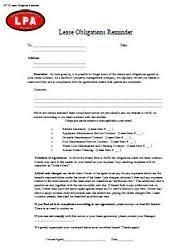 Lease Renewal Form Luxury Lease Obligations Reminder Notice To ...