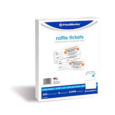 Print Raffle Tickets At Home Printworks Heavyweight Perforated Cardstock For Raffle Tickets Coupons And More Tear Away Stubs 8 5 X 11 67 Lb 8 Tickets Per Sheet 250 Sheets