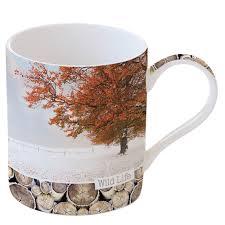 Easy Life Design Coffee Mugs Porcelain Mug 350 Ml In Color Box Maple Tree