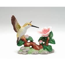 hummingbird with red flower figurine cosmos gifts elegant 30 jpg