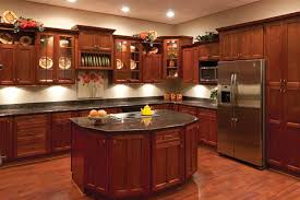 Interesting Cherry Shaker Kitchen Cabinets Bargain Outlet To Design Inspiration