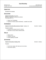 High School Resume Template No Experience For Student With Job
